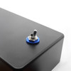 Blue anodized aluminum dress washer for toggle switch