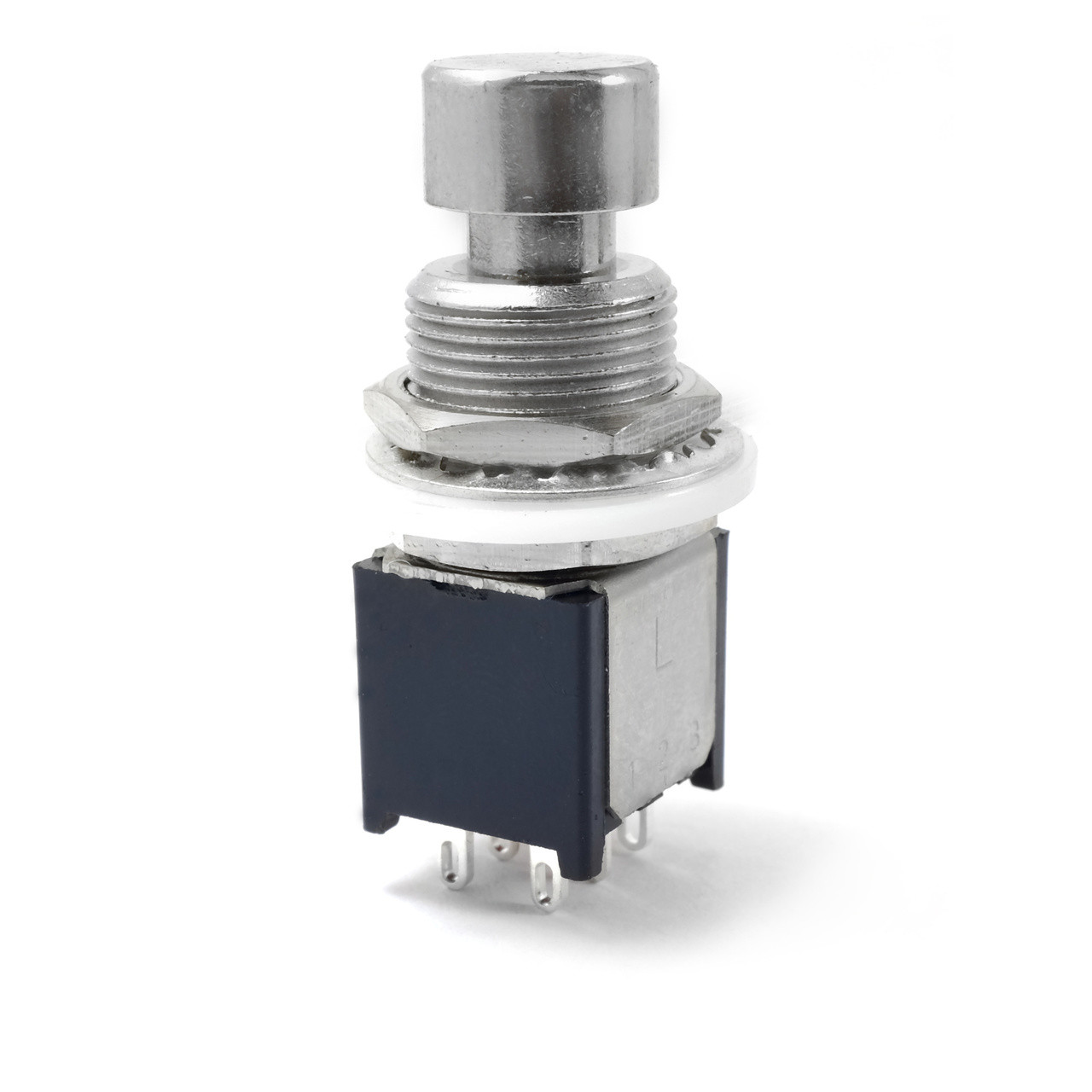 dpdt latched foot switch - low profile - solder lugs