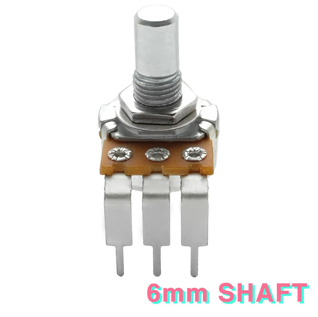 2 x 16mm Mini Alpha C500K 500K Reverse Taper Potentiometer Pot Knurled Shaft
