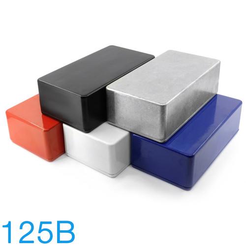125B Enclosure - Bare Aluminum & Powder Coat Finish in Black, White, Red, and Blue