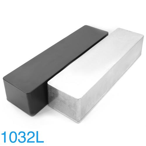 1032L Looper Enclosure - Bare Aluminum & Black Powder Coat Finish