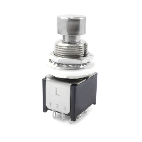 3PDT Low Profile Latched Foot Switch - Solder Lugs