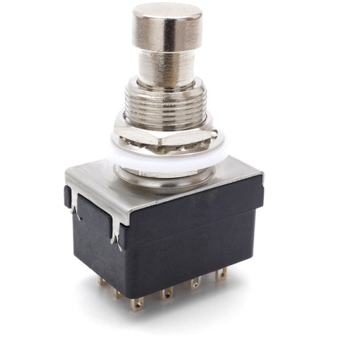 4PDT Latched Foot Switch - Solder Lugs