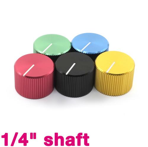 "Anodized Aluminum Knobs - 1/4"" smooth shaft potentiometer - 20mm diameter"