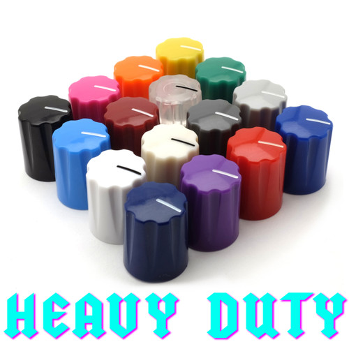 Davies 1900 Clone Knobs - Heavy Duty with brass cup insert - all colors