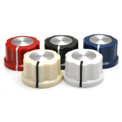 """Boss Style Knob in Color - 1/4"""" Smooth Shaft (27mm OD)"""