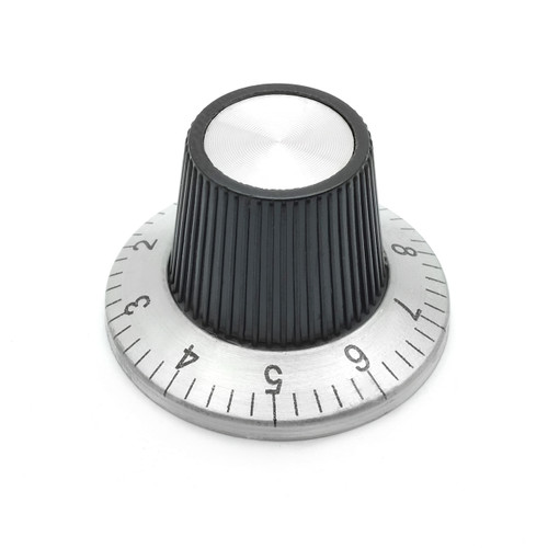 Flying Saucer Skirt Knob - Medium - Numbered Indicator