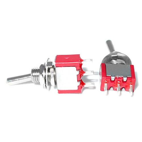 SPDT On On Switch - Solder Lug - Long Shaft