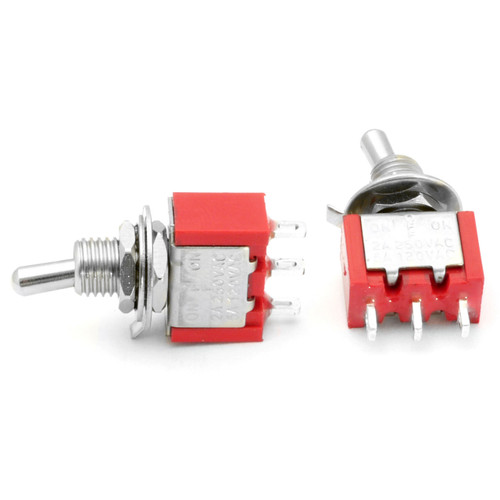 SPDT On Off On Switch - Solder Lugs - Short Shaft toggle switch clone of mountain toggle switch