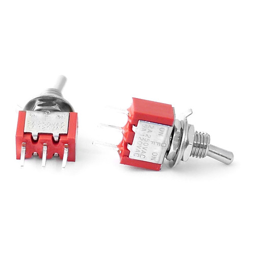 SPDT On Off On Switch - PCB Mount -Short Shaft toggle switch