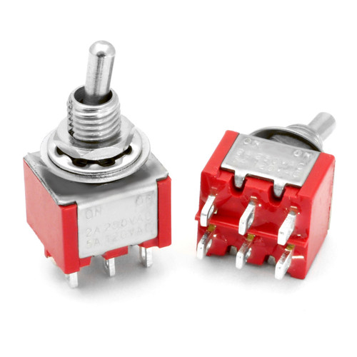 DPDT On On Switch - Solder Lug - Short Shaft