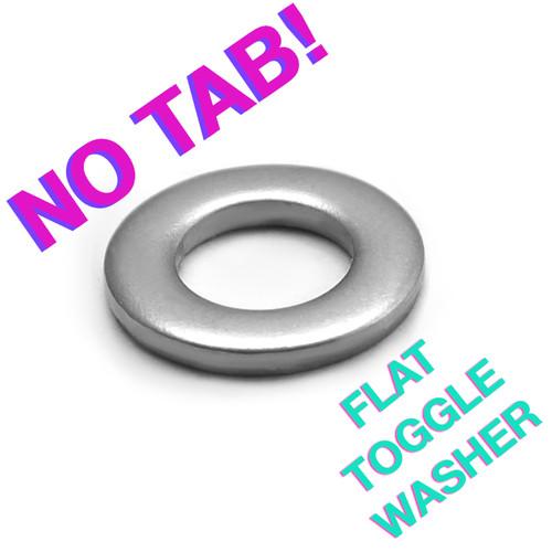 Flat, non-locking toggle washer for mini-sized toggle switches