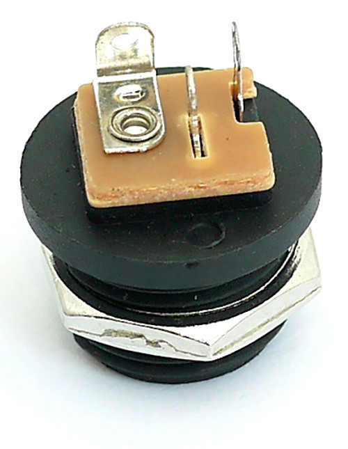 """Back view of switched 2.1mm DC power jack - """"outtie"""" style"""