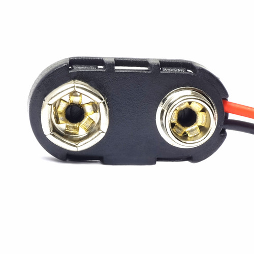 9V Battery Snap - Side Wire Attachment - No Collar