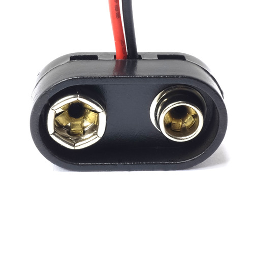 9V Battery Snap for guitar pedals- T-Style Attachment - extra Collar
