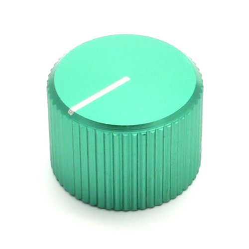 Green anodized aluminum knob with 6.0mm shaft.