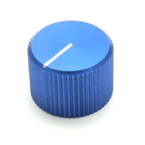 "Blue anodized aluminum knob for 1/4"" smooth shaft"