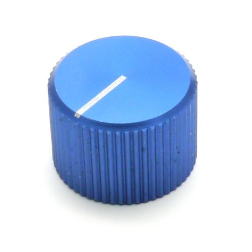 "Blue anodized aluminum knob for 1/4"" smooth shaft"