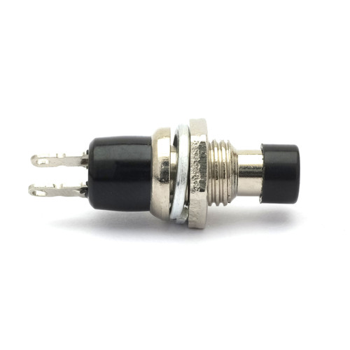 SPST Push-Button Switch - Momentary - Black