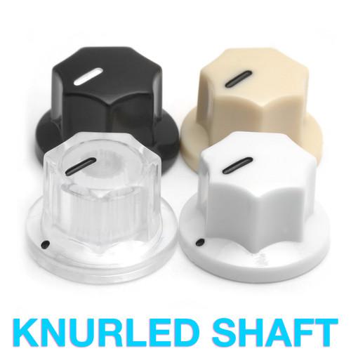 MXR Style Knob - Fluted Knob with Knurled Shaft (19mm OD)