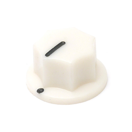 White MXR style knob for knurled shaft
