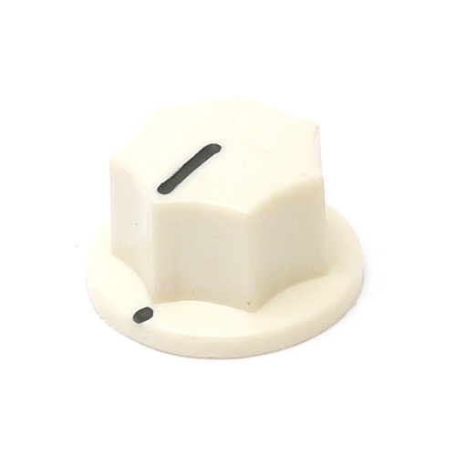 Cream MXR Style Knob - Knurled Shaft
