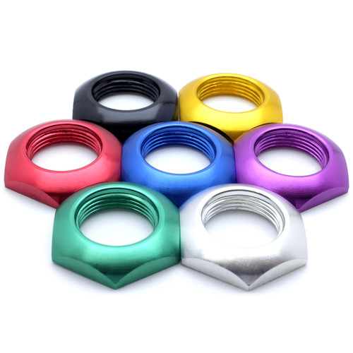 Anodized aluminum 3PDT foot switch nut for guitar effect pedals - 7 colors