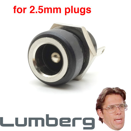 Thinline Lumberg DC Power Jack for 2.5mm plugs