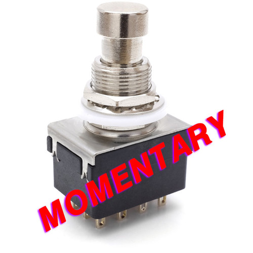 4PDT Momentary Foot Switch - Solder Lugs