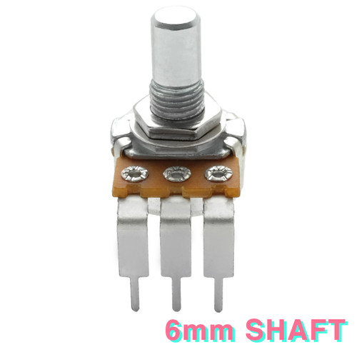 16mm potentiometer -6mm smooth shaft - right angle PCB mount