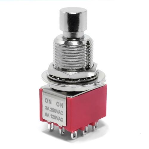 Taiway 3PDT compact latched foot switch with solder lug terminals