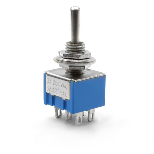 DPDT On On MOMENTARY Toggle Switch - Solder Lug - Long Shaft