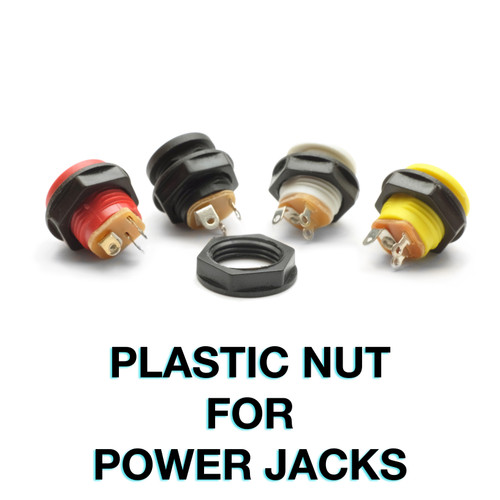 Plastic nut for 2.1mm switched power jacks
