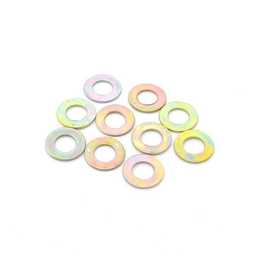 Flat, non-locking toggle washer for mini-sized toggle switches unplated rainbow finish