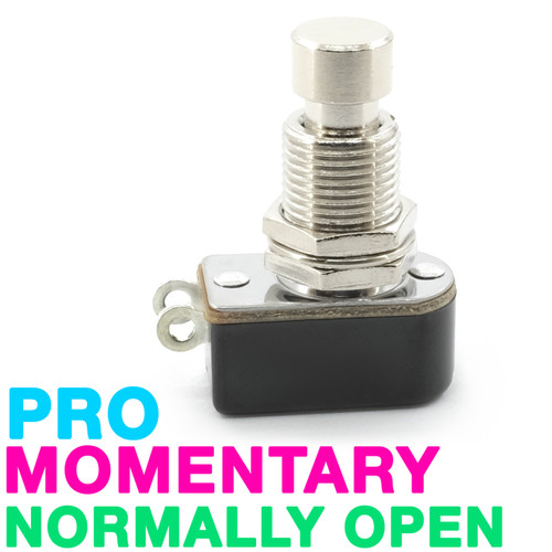 Pro-Grade SPST Momentary Foot Switch - Normally Open - Soft Touch - Solder Lug