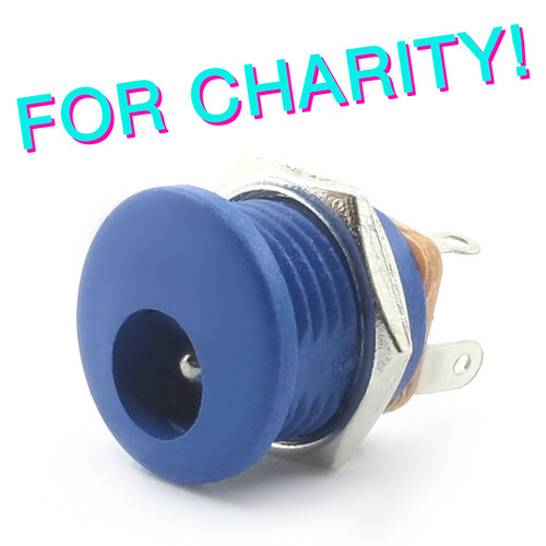 Switched 2.1mm DC Power Jack - Blue - FOR CHARITY!
