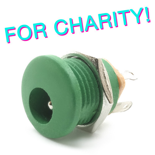 Switched 2.1mm DC Power Jack - Green - FOR CHARITY!