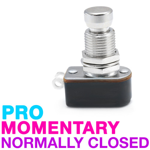Pro-Grade SPST Momentary Foot Switch - Normally Closed - Soft Touch - Solder Lug