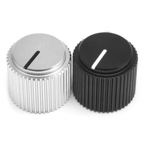 Obelisk aluminum knobs - black and silver
