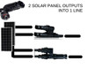 MC4 Y Type Branch Connector Solar Panel Cable Adapter MMF FFM Set