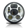 5.75 (5 3/4) In LED Projector Motorcycle Headlight Round DOT V2 Chrome