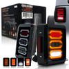 3D LED Tail Lights for Wrangler JK 2007-2017