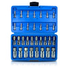 "32pc Master Hex Bit Set SAE & Metric Socket Set Standard Allen 1/4"" 3/8"" 1/2"""