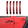 Red Door Handle Inserts Aluminum 5pcs for 2007-2018 Jeep Wrangler JK 4 Door