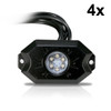 LED RGB CHASE Whip Light + Rock Lights Off Road Flag Bluetooth Color Moving Synced