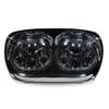 Dual LED Headlight for Harley Road Glide Chrome