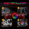 14 inch Spare Tire Carrier RGB LED Brake Lights Third Wheel Lamp for Jeep Trucks