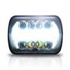 7×6 (5×7) H6054 200mm LED Projector w/DRL Headlights Chrome Set