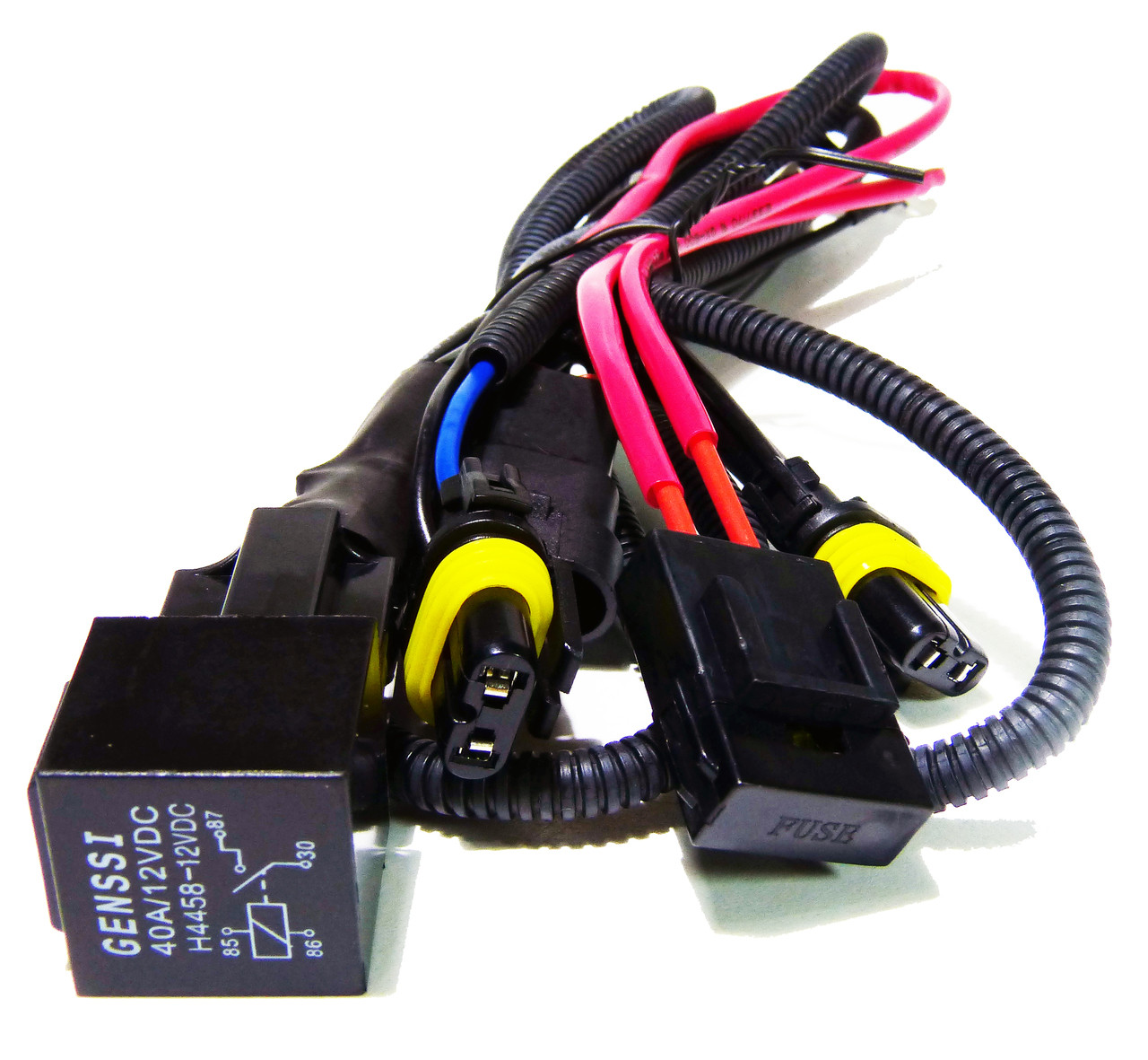 HID Xenon Wire Relay Harness 9006 9005 H10 9145 9055 9012 on