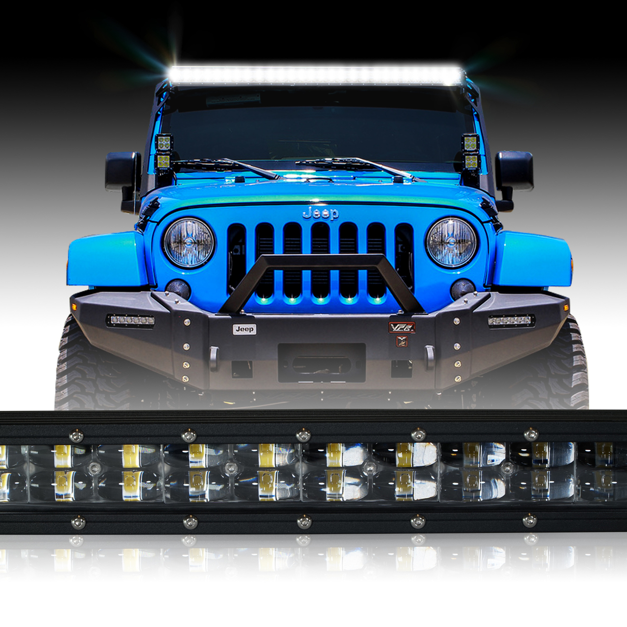 Awesome Led Light Bar 288W 50 Inches Bracket Wiring Harness Kit For Wrangler Wiring 101 Omenaxxcnl